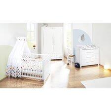 """3-tlg. Kinderzimmer Set """"Puro"""" in Weiß lasiert"""
