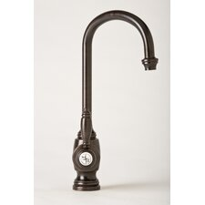 Hampton One Handle Single Hole Bar Faucet with Built-In Diverter and Lever Handle