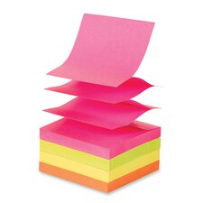 "Adhesive Notes, Pop-up, Removable, 3""x3"", 12/PK, Extreme Colors"