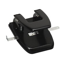 "Hole Puncher, 2HP, 1/4"" Size, 2-3/4"" Center, 20 Sheet Cap., Black"