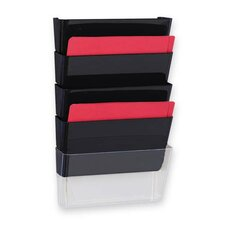"Vertical File System, 13""x4""x6-3/4"", 3/PK, Smoke"