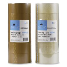 "Package Sealing Tape, 3""Core, 1-7/8""x164', 6/PK, Tan"