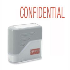 "CONFIDENTIAL Title Stamp, 1-3/4""x5/8"", Red Ink"