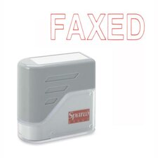 "FAXED Title Stamp, 1-3/4""x5/8"", Red Ink"