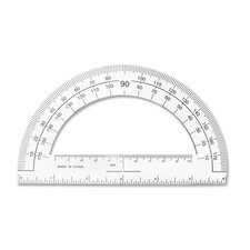"""Plastic Protractor, 6"""" Long, Clear"""