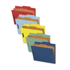 Classification Folders, w/ Fstnrs, 1 Dvdr, Letter, 10 per Box