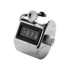 Tally Counter w/ Finger Ring, Silver