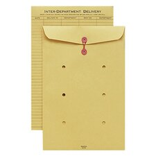 "Inter-Department Envelope, String Closure, 10""x15"", Kraft"