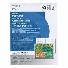 "Inkjet Postcard, Micro-perf, 5-1/2""x4-1/4"", 200/BX, White"