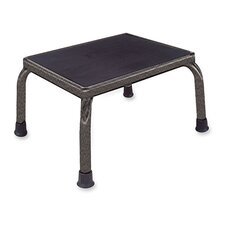 <strong>Hausmann Industries</strong> Anti-skid Footstools, Black/chrome