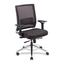 <strong>Lorell</strong> Mid-Back Executive Chair with Swivel
