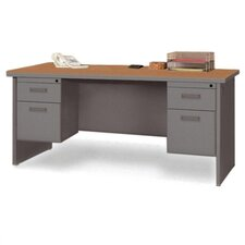 <strong>Lorell</strong> Durable Double PedestalComputer Desk with Radius Edges