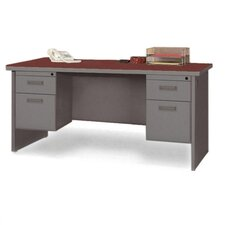 Lorell Durable Laminate/Steel Computer Desk Ensembles