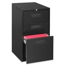 "Lorell 23"" Box/Box/File Mobile Pedestal Files, Letter, Black"