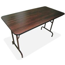 "30"" x 96"" Laminate Economy Folding Tables, Mahogany"
