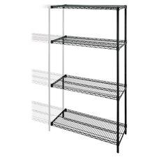 Industrial Wire 4 Shelf Shelving Unit Add-On