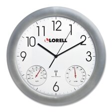 "<strong>Lorell</strong> 12"" Temperature/Humidity Wall Clock"
