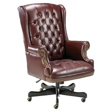 Traditional High-Back Executive Chair with Arms