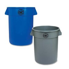 Heavy-duty Trash Container, Blue