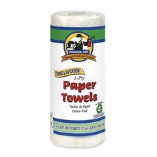2-Ply Household Roll Towels, White, 30 rolls