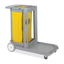 "<strong>Genuine Joe</strong> Compact Cleaning Cart, 20-3/4""X43-1/2""X38"", Light Gray"
