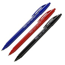 Triangular Barrel Retractable Ballpoint Pens, Medium Point, Black Barrel