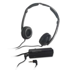 Compucessory Foldable Noise Canceling Headphones, Black