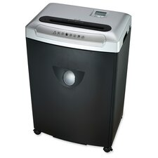 Compucessory Small/Medium Size Cross Cut Shredder, Black/silver