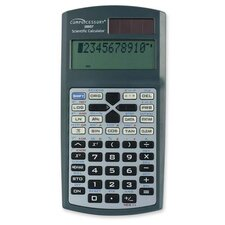 Compucessory Dual Power Scientific Calculator, Charcoal gray