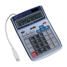 Compucessory 12-Digit PC Interface LCD Calculator, White