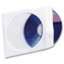 "CD/DVD White Window Envelopes, 5""x5"", White, 250 per Box"