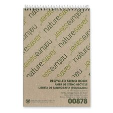 Recycled Steno Book, White