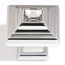 "Swarovski Crystal 1.25"" Small Square Knob"