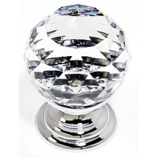 "Swarovski Crystal 1.1"" Spherical Round Knob"