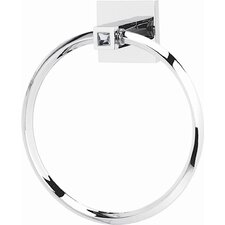 <strong>Alno Inc</strong> Swarovski Towel Ring with Brass Construction