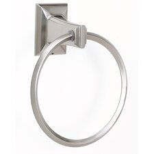 "<strong>Alno Inc</strong> Geometric 6"" Towel Ring"