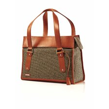 Tweed Belting Classic Leather Business Briefcase