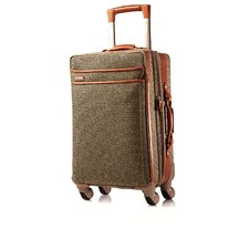 "Tweed Belting 21"" Spinner Suitcase"