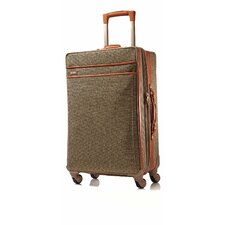 "Tweed Belting 26"" Spinner Suitcase"