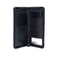 Capital Leather Zip Travel Organizer in Black