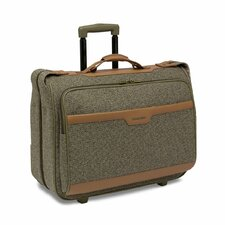 Tweed Carry-on Mobile Traveler Garment Bag in Walnut
