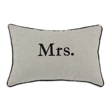 """Mrs."" Natural Linen Pillow"