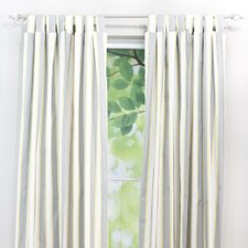 <strong>Chooty & Co</strong> Lulu Storm Cotton Tab Top Curtain Single Panel
