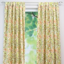 Findlay Apricot Linen Tab Top Curtain Single Panel