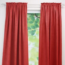 Passion Suede Rod Pocket Curtain Single Panel