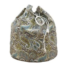 Paisley Round Laundry Bag with 4 Grommets