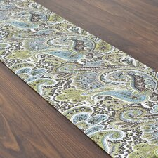 Paisley Topstitched Table Runner