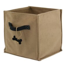Doggie Soft Sided Storage Container with Bone