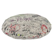 """Just The Facts 36"""" Quiet Round Pet Bed"""