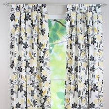 Small Talk Linen Tab Top Curtain Panel